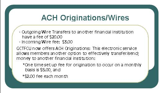 achorigination wires