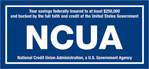 ncua logo with blue background